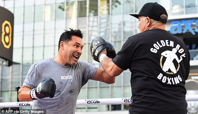 De La Hoya founded his own company, Golden Boy, and was seen on August 24 to promote his reemergence from retirement