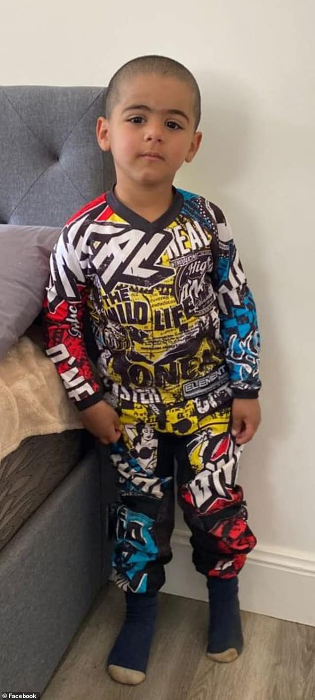 Three-year-old 'AJ' Elfalak (pictured) disappeared from the rural property on Friday, with his family having feared he was abducted