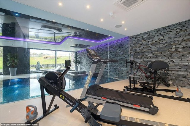 Ronaldo will be able to keep fit before training starts on Wednesday inside a fitness studio housed within the mansion