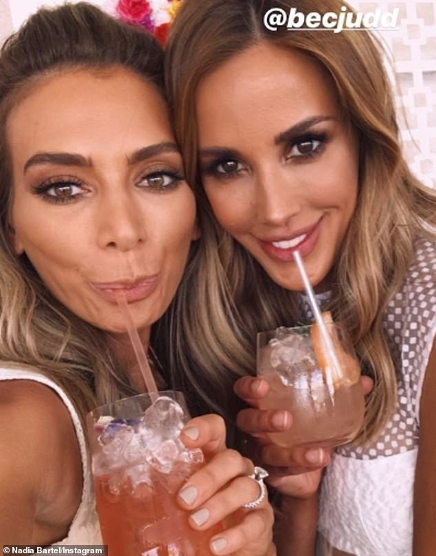 Good friends: Rebecca (right) has been a pillar of strength for Nadia in the months after her split, as she explored her new life as a single-mother