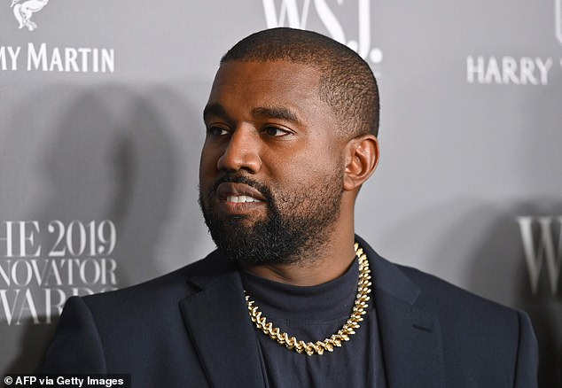 Lots of options: Kanye's new venture intends to produce bed blankets, throw blankets and golf blankets using materials including silk, cashmere and fleece. Seen in 2019
