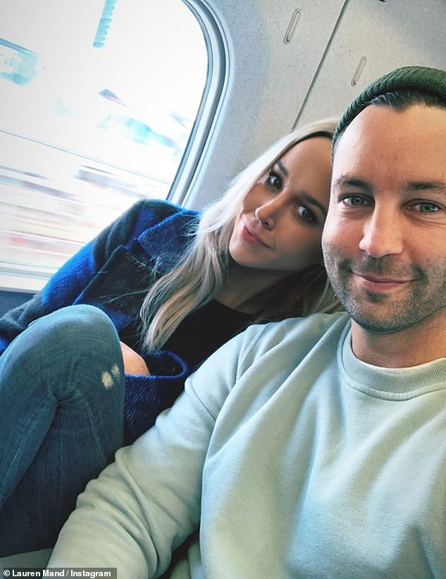 Former flame: Soon after the split was announced, it emerged that Jimmy was in a 'long-term relationship' with Lauren Mand (pictured), who was living in London at the time. Jimmy and Lauren reported split up last month the same week his divorce from Nadia was finalised