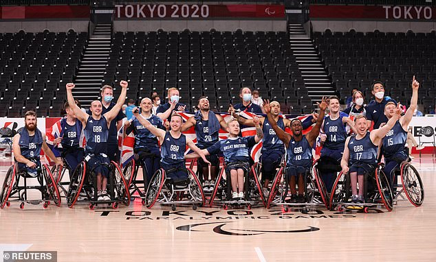 The men's wheelchair basketball team took bronze by defeating Spain in their play-off game