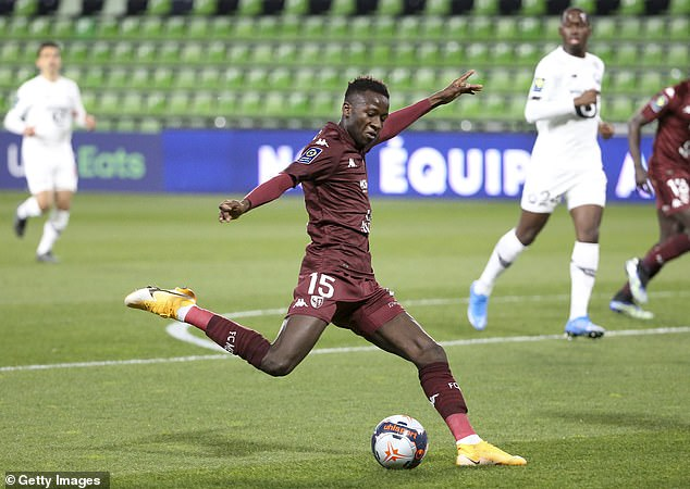 The 18-year-old also completed 85 per cent of his attempted passes last season in Ligue 1