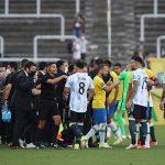 Brazil vs Argentina: Health authorities DETAIN Premier League quartet after storming pitch 💥👩💥
