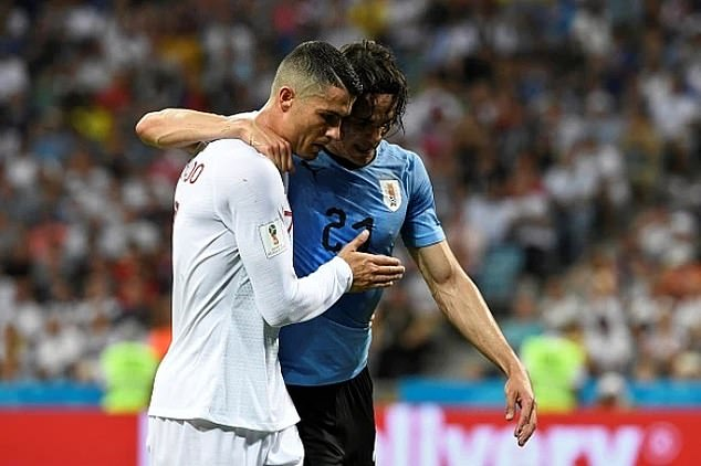 The striker (right) may struggle at Old Trafford now Cristiano Ronaldo (left) is back