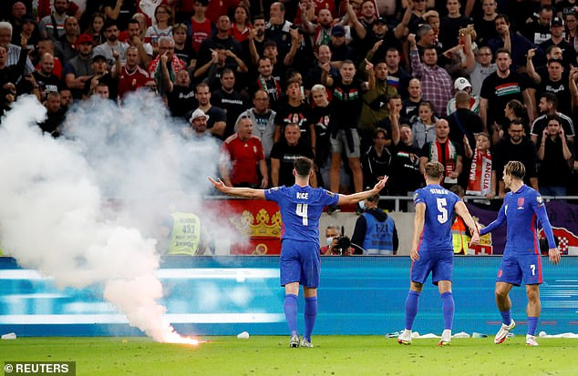 The Three Lions players tackled racist abuse during their 4-0 win over Hungary on Thursday