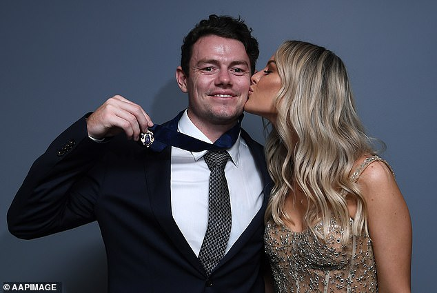 It's understood Lachie Neale (pictured with wife Jules following his 2020 Brownlow Medal win) wants to return to Western Australia to be closer to his wife's family