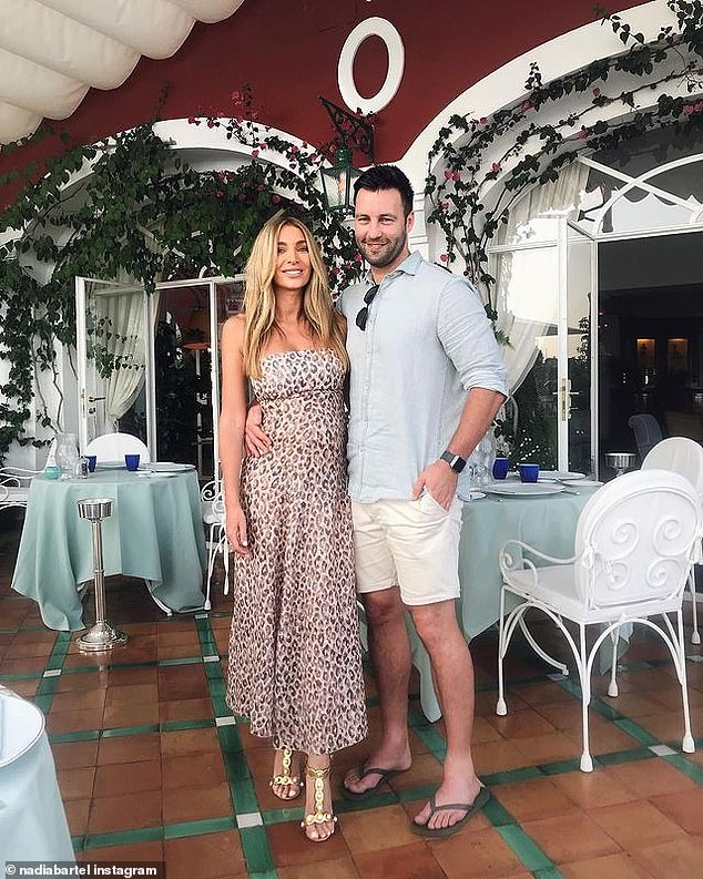 Former relationship: Nadia is the ex-wife of retired AFL star Jimmy Bartel (right), a Brownlow Medallist who spent his career with the Geelong Cats