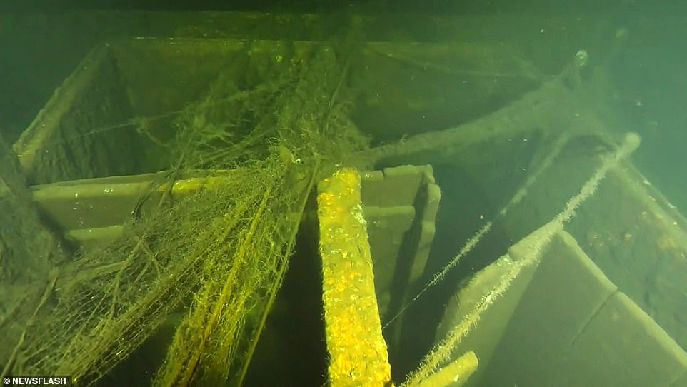 The divers will conduct 12 dives a day and, in teams of three, will enter the wreck through an open shaft in the middle of the ship