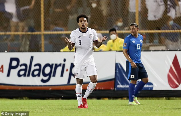 Some of McKennie's USA team-mates admitted they were 'disappointed' by his behaviour