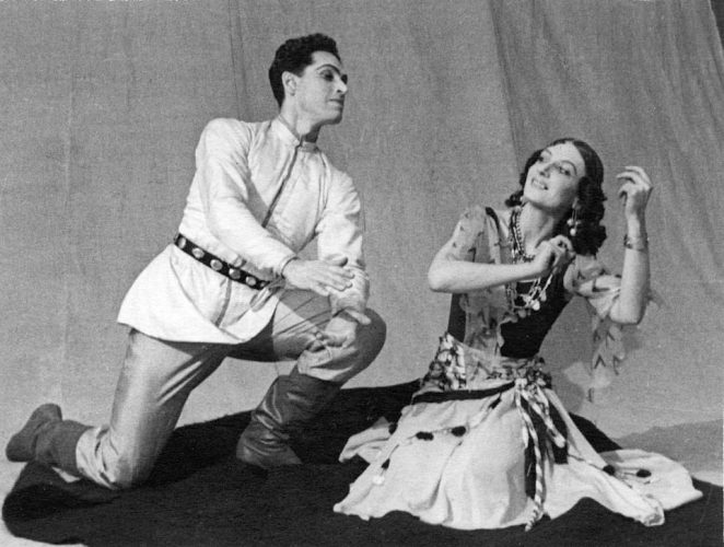 After finishing training in 1926 aged 17, Nina Anisimova went on to wow audiences across what was then the Soviet Union as part of the Kirov ballet for more than 30 years. But new book Dancing For Stalin, by author Christina Ezrahi, reveals for the first time to Western audiences how Nina was wrongly imprisoned at the height of her career in 1938, on suspicion of being a spy for Nazi Germany. Above: Nina with male dancer Konstantin Sergeyev in the early 1940s