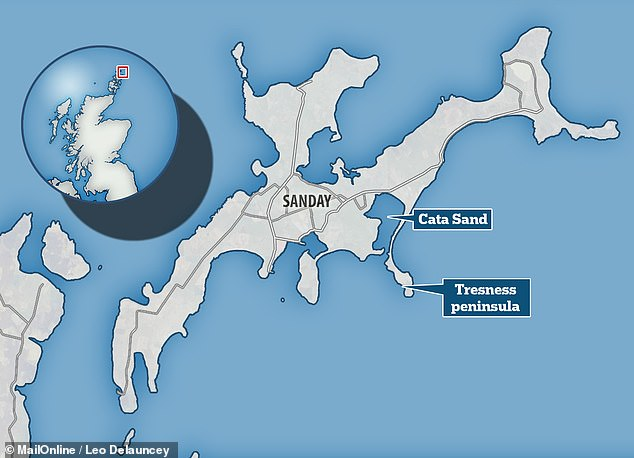 The two stone balls were unearthed at the southern tip of the Tresness peninsula by experts at the University of Central Lancashire and National Museums Scotland.Around a mile north of the tomb, at Cata Sand, the team have also discovered the remains of a neolithic settlement dating back to the same time as the monument