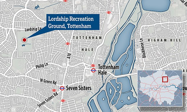 Attack was in Lordship Recreation Ground in Tottenham, north London, at 2.15pm on August 1