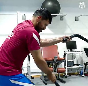 Aguero was used to turning up to Manchester City over an hour before training to use the facilities. He had hoped to do the same at Barcelona