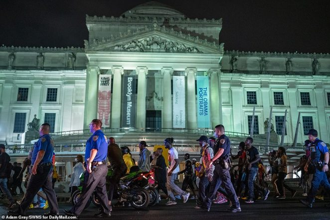 J'Ouvert celebrations took place near the Brooklyn Museum in the early morning hours of Monday