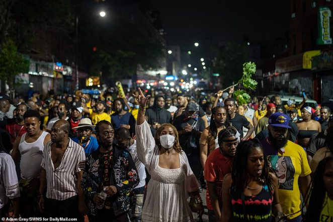 J'ouvert usually begins at 4am on Labor Day on the streets of Brooklyn