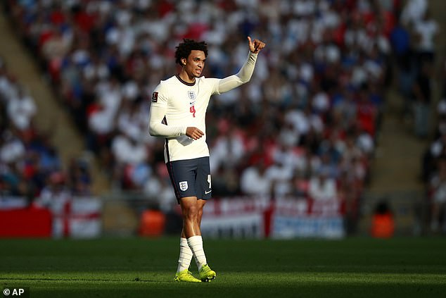 The England international was moved into right-back for the second-half and improved