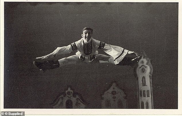 Robin Thomson grew up to perform with the Australian Ballet School and boasted a 'long and lean stature' that had made him perfect for the dance form (pictured)