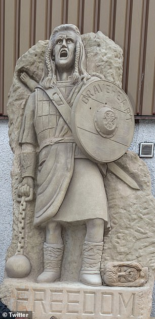 The statue of William Wallace was the idea of Tommy Church, a sculptor from Brechin