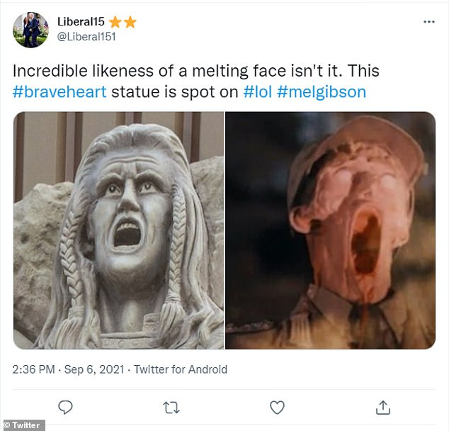 The melting face in Indiana Jones was just one of the pop culture references used to skewer the statue