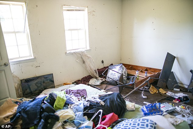 A general view inside one of the apartments at Oakwood Plaza, where 600 families were displaced in the aftermath of the storm