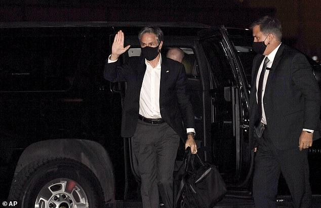 Antony Blinken rushed to Qatar Sunday amid the unfolding crisis in Mazar-i-Sharif
