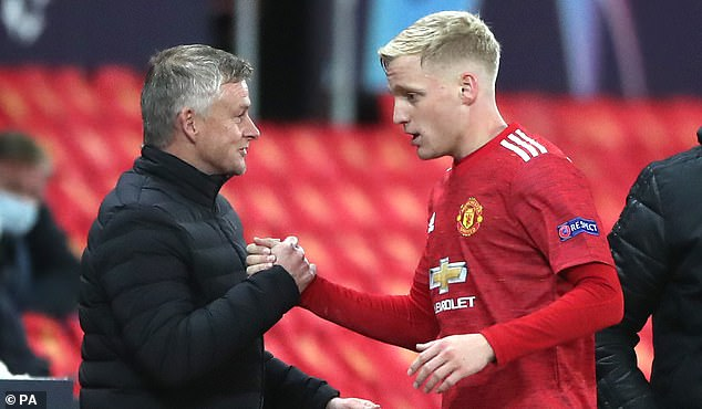 And he claimed that manager Ole Gunnar Solskjaer (left) told him he needed him this season