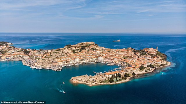 Mary writes: 'We celebrate the journey by walking directly into restaurant Stella Marina [in Portoferraio, above] facing the harbour for a leisurely wine-filled lunch'