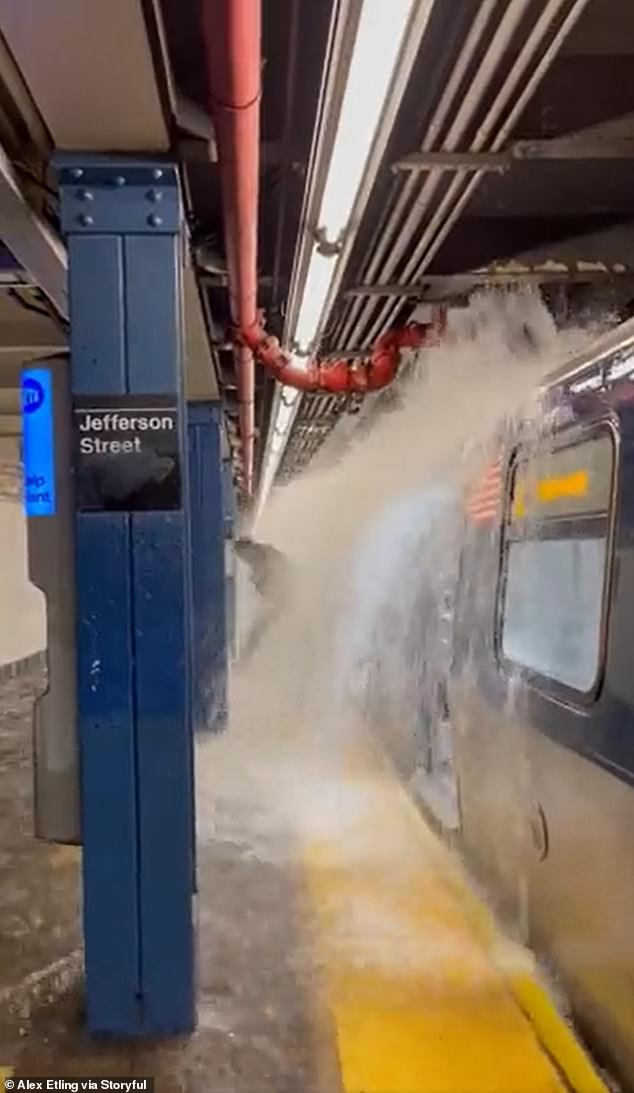 As a result of flooding, the entire New York subway system was suspended and remained largely out of use on Thursday morning