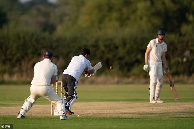 Those staying at a hotel in Newport Pagnell, Buckinghamshire, took to the field on Sunday against the local team in a match organised by the town's Baptist church and council