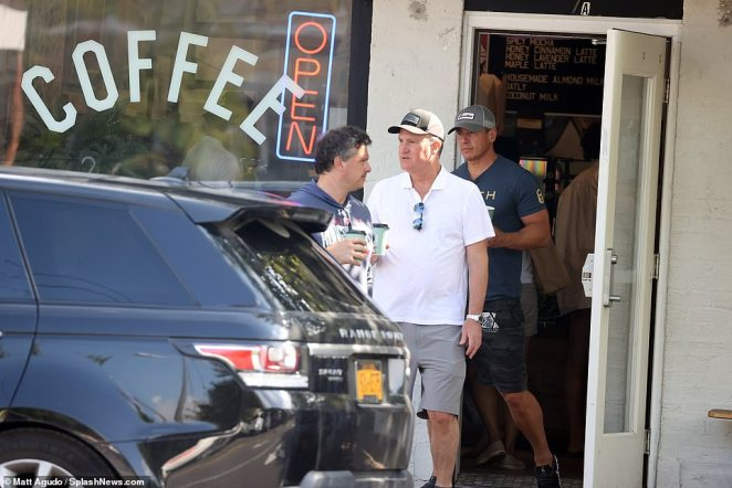 Cuomo was seen leaving a Hamptons coffee shop with New York attorney John D Pappalardo