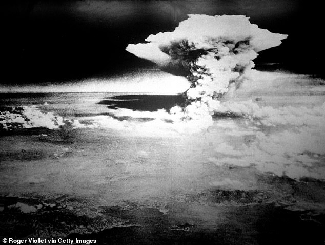 Darebin councillors also voted unanimously for staff to produce a report on how to ban nuclear weapons in the local government area (pictured: the city of Hiroshima after the US atomic bomb attack on August 6, 1945)