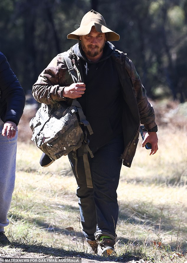 The family of little AJ Elfalak is relying on the opinion of professional bush tracker Jake Cassar (pictured) to help them understand how the toddler spent three nights alone in the unforgiving terrain behind their home