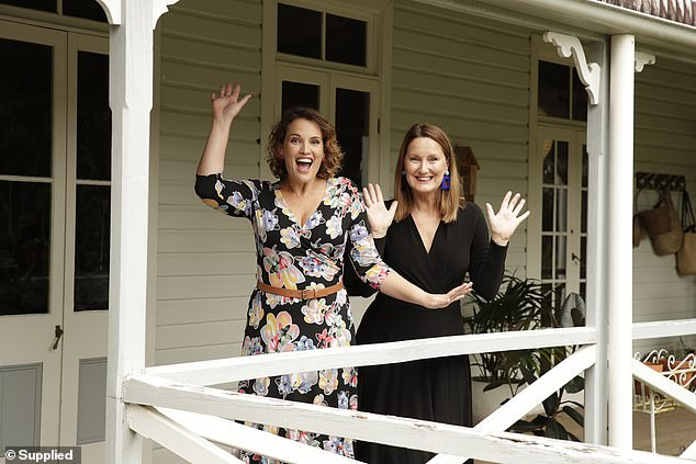 Ms Richardson says if it wasn't for her co-owner, Leina Broughton (pictured, left), who lives on the Queensland side of the border, the business would not be able to operate