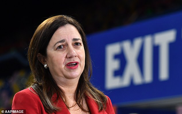 Labor premiers Mark McGowan, from Western Australia, and Queensland's Annastacia Palaszczuk (pictured) have both indicated they would keep their borders closed even if national vaccination rates surpassed 80 per cent