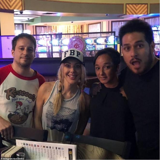 Colangeli (left) and Kate Quigley (second from left) appear in a photo in Colangeli's Instagram