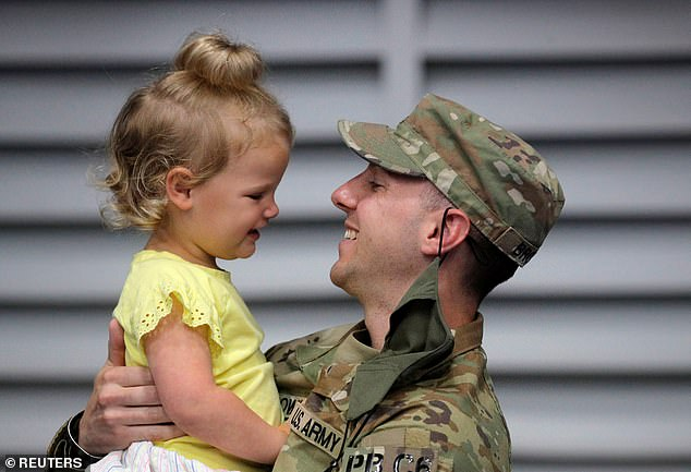 Soldiers with the most deployed U.S. Army unit were relieved to be back with their loved ones