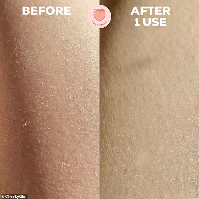 The 'wonder' product promises to remove dead skin, dirt and fake tan in just minutes, leaving body smooth after one use