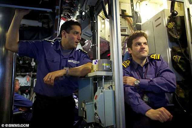 Former Navy captain Ryan Ramsey (pictured left) says a patrolling nuclear submarine would not allow a civilian detective onboard to investigate while they were carrying out their duties