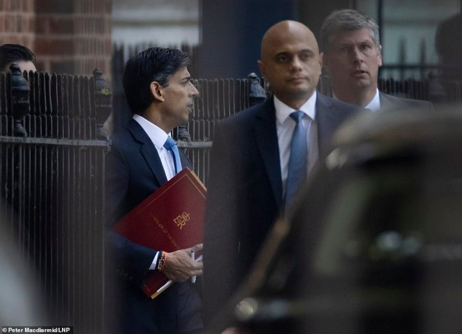 Chancellor Rishi Sunak in Downing Street as the Cabinet signed off on the social care blueprint
