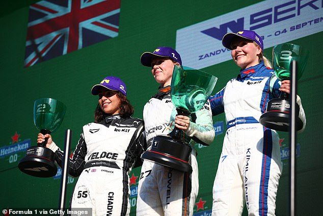 Brit Jamie Chadwick (left) is becoming a household name and is Williams' development driver