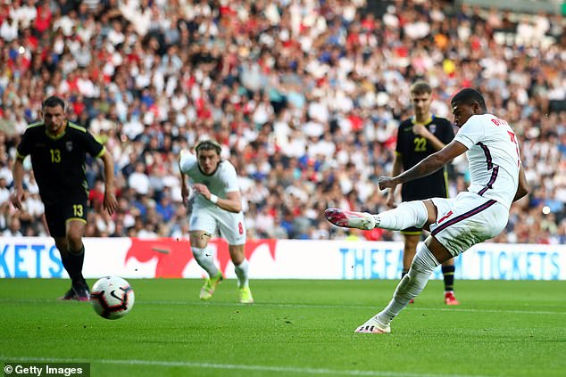 Brewster scored from the spot after the Sheffield United striker had been fouled by the keeper
