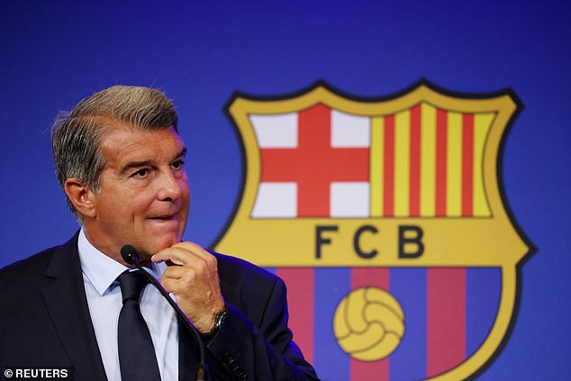Laporta said the forward's attitude was never in question after he was loaned back to Atletico