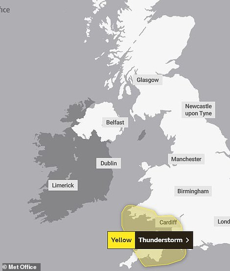 Met Office yellow weather warning