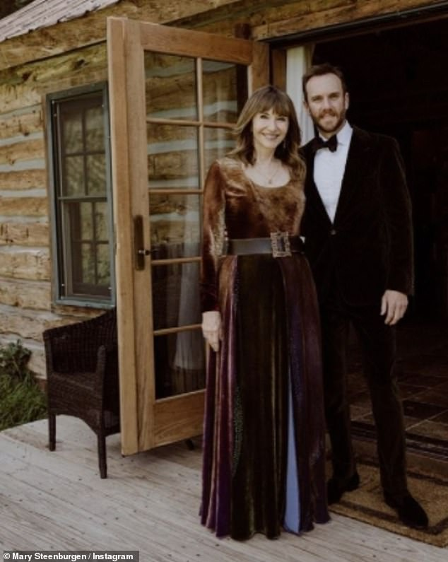 'Most glorious weekend ever!' In attendance at the rustic nuptials were Charlie's Oscar-winning mother Mary Steenburgen (L) and Lily's Emily in Paris castmate Ashley Park