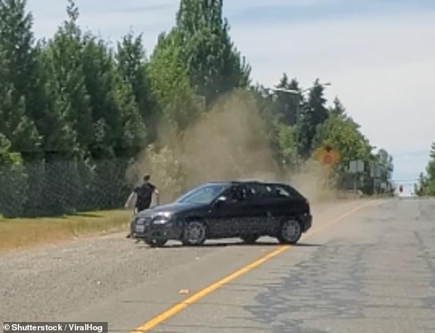 A man was chased down by a car during a road rage incident and narrowly avoided being plowed into in SeaTac, Washington