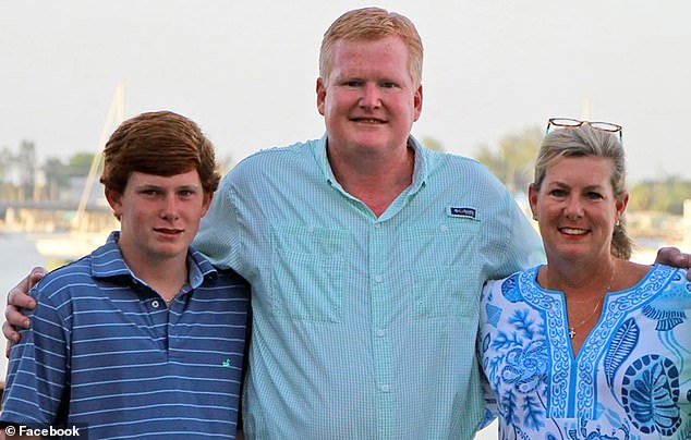 Alex Murdaugh, center, will no longer be allowed to volunteer at thethe 14th Circuit Solicitor¿s Office in South Carolina. Last week, he was pushed out of his private law firm after being accused of misappropriating over $1million in company funds. He said in a statement afterwards he'd made 'a lot of decisions' he regrets since the murders of his wife Maggie and son Paul in June