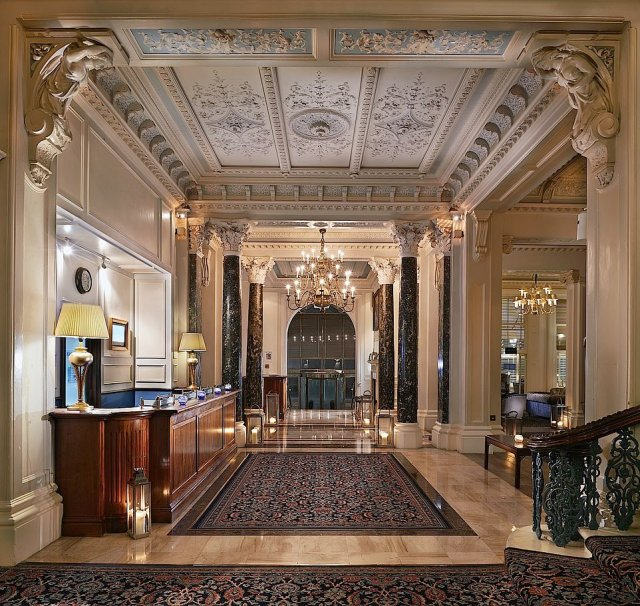The 201-room Victorian hotel has plenty of grand features – as its name promises