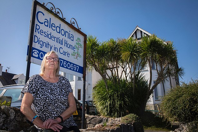 Owner Ms Bedford (pictured) said the 15-bed home, which specialises in dementia care, only made it through the weekend because two Covid-positive members of staff agreed to work